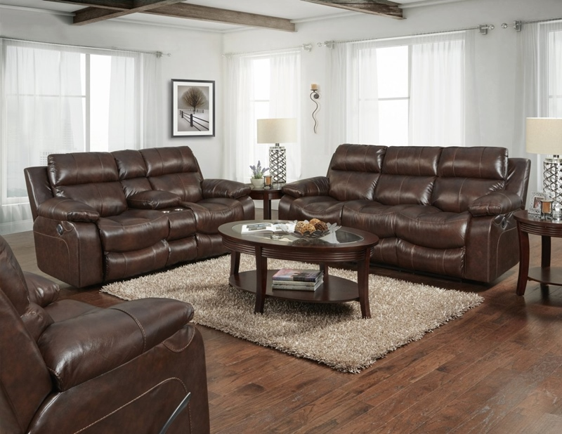 Positano Cocoa Reclining Living Room Set