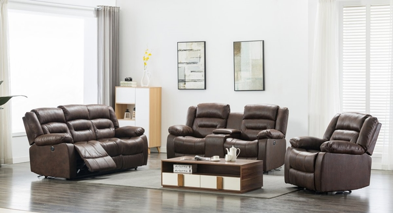 Chocolate Power Motion Reclining Living Room Set