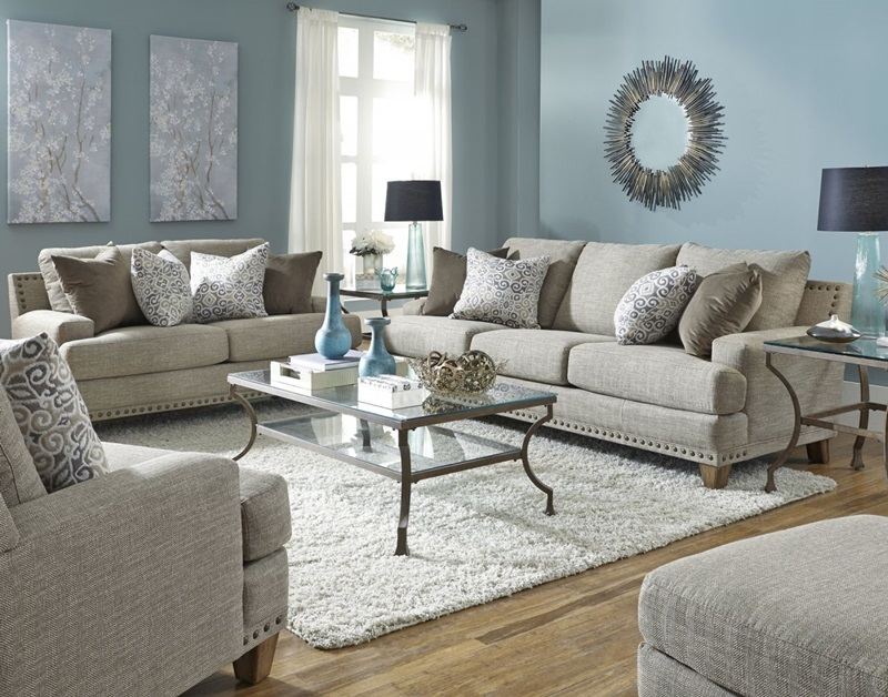 Hobbs Living Room Set in Beige