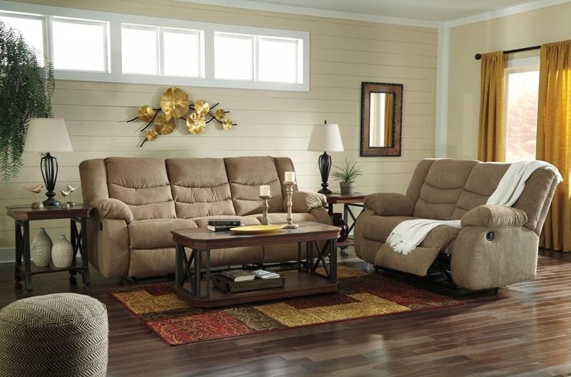 Tulen Reclining Living Room Set in Mocha