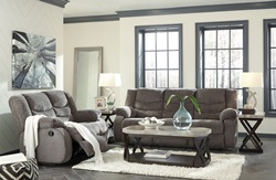 Tulen Reclining Living Room Set in Grey
