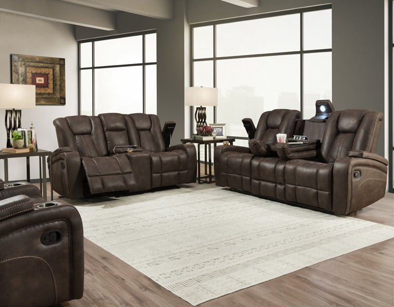 Jantzen Brown Recliner Living Room Set