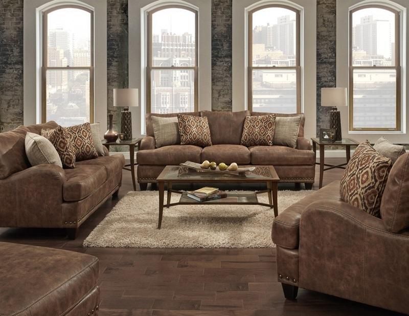 Isaac Rustic Living Room Set