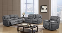 U0903 Reclining Living Room Set in Charcoal