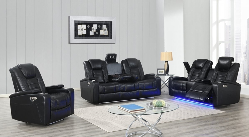 Black Transformer Reclining Living Room Set