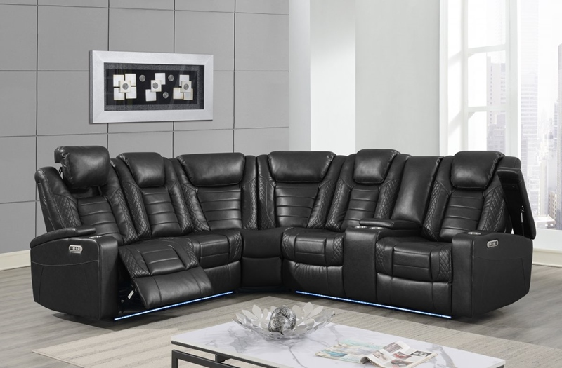 Black Transformer Sectional