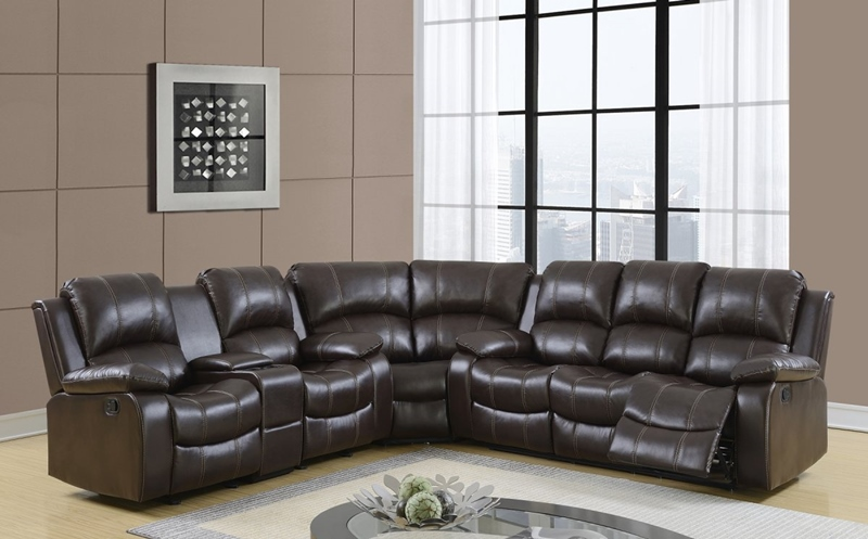 Pluto Chocolate Reclining Sectional