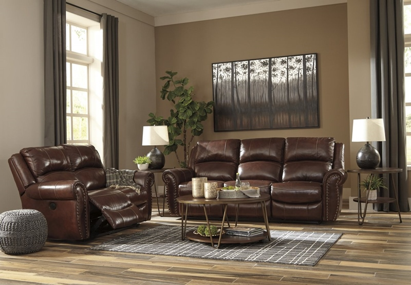 Bingen Leather Reclining Living Room Set