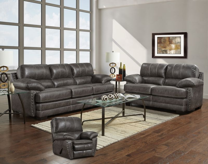 Page Living Room Set in Grey
