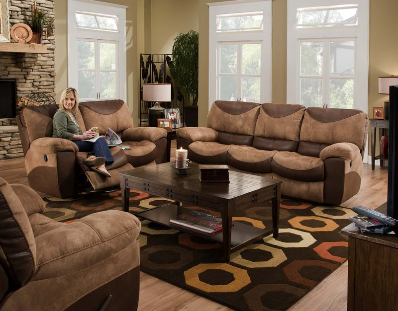 Portman Two-Tone Reclining Living Room Set