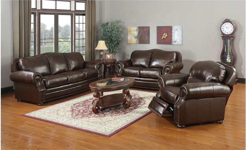 Ranchero Leather Living Room Set