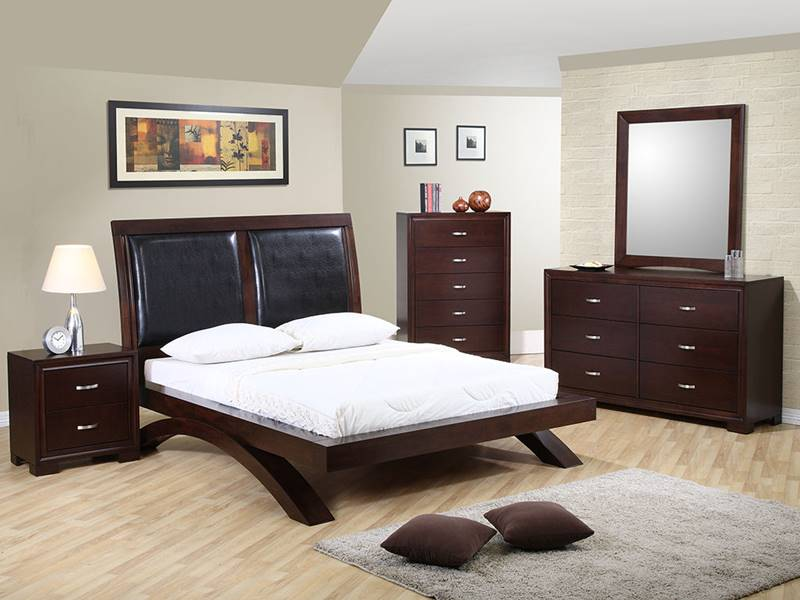 Raven Bedroom Set with Leatherette Headboard