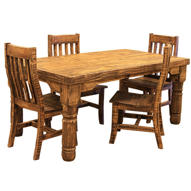 Rough Pine Rustic Dining Room Set