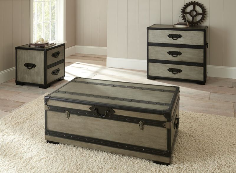 Charmant Rowan Trunk Coffee Table Set With Cedar Lining ...