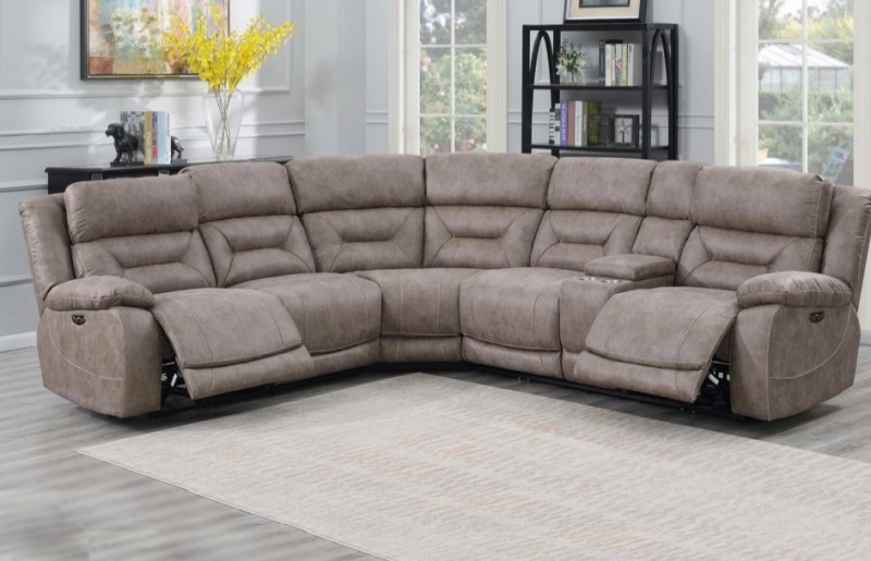 Aria Reclining Sectional Sofa in Desert Sand