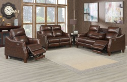 Akari Leather Reclining Living Room Set
