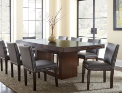 Tiffany Dining Room Set with Charcoal Chairs