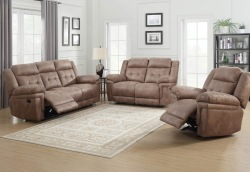 Anastasia Reclining Living Room Set in Cocoa