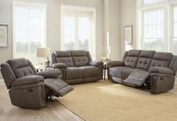 Anastasia Reclining Living Room Set in Gray