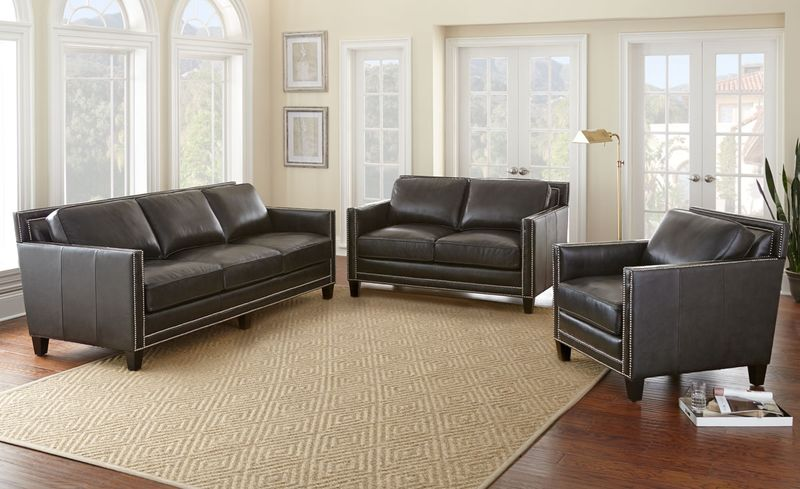 Abby Leather Living Room Set