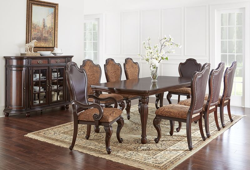 Angelina Formal Dining Room Set with Leg Table