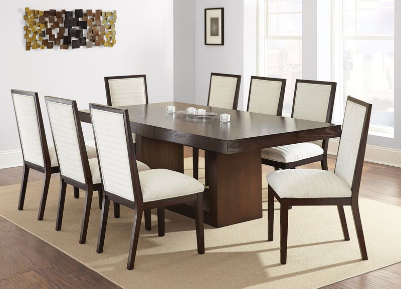 Antonio Dining Room Set with Beige Chairs