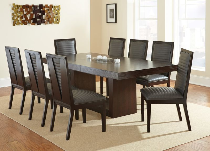 Antonio Dining Room Set with Brown Chairs
