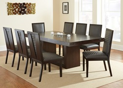 Antonio Dining Room Set with Charcoal Chairs