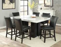 Camila Counter Height Dining Room Set with Black Chairs