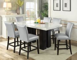Camila Counter Height Dining Room Set with Silver Chairs