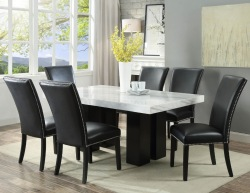 Camila Dining Room Set with Black Chairs