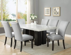 Camila Dining Room Set with Silver Chairs
