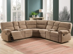 Conan Reclining Sectional Sofa in Latte