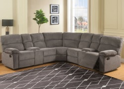 Conan Reclining Sectional Sofa in Graphite