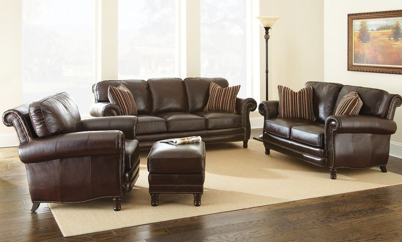 Chateau Leather Living Room Set