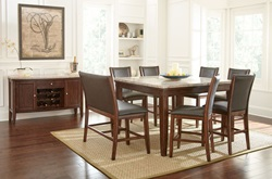 Eileen Marble Top Counter Height Dining Room Set