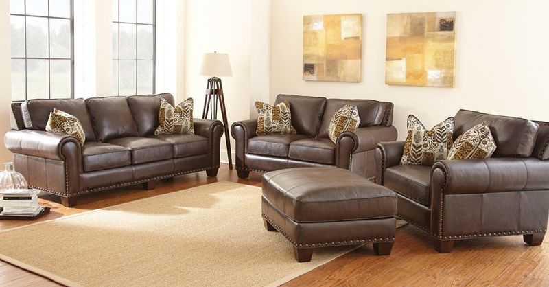 Escher Leather Living Room Set