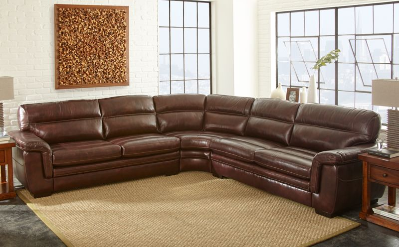Kendall Leather Sectional