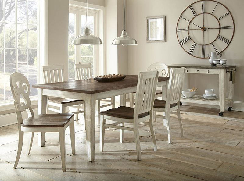 Lighthouse Dining Room Set with Oak Top