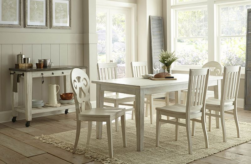 Lighthouse Dining Room Set with White Top