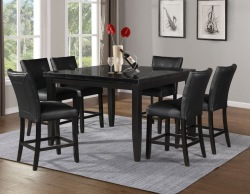 Markina Counter Height Square Dining Room Set with Black Chairs