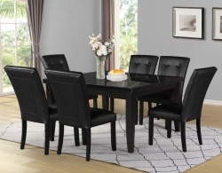 Markina Square Dining Room Set with Black Chairs