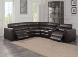 Nara Leather Reclining Sectional Sofa