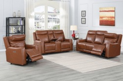 Natalia Leather Reclining Living Room Set