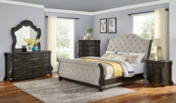 Rhapsody Bedroom Set with Sleigh Bed