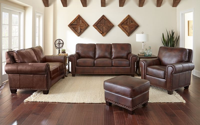 Troy Leather Living Room Set