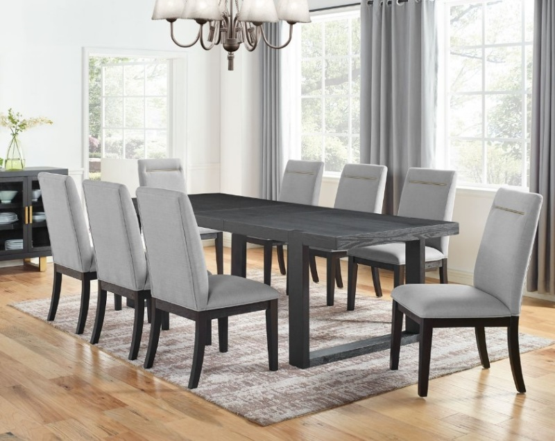 Yves Dining Room Set with Gray Chairs