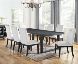 Yves Dining Room Set with White Chairs