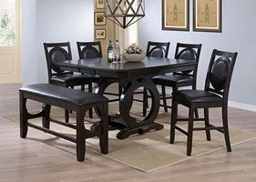 Sadler Counter Height Dining Room Set with Bench