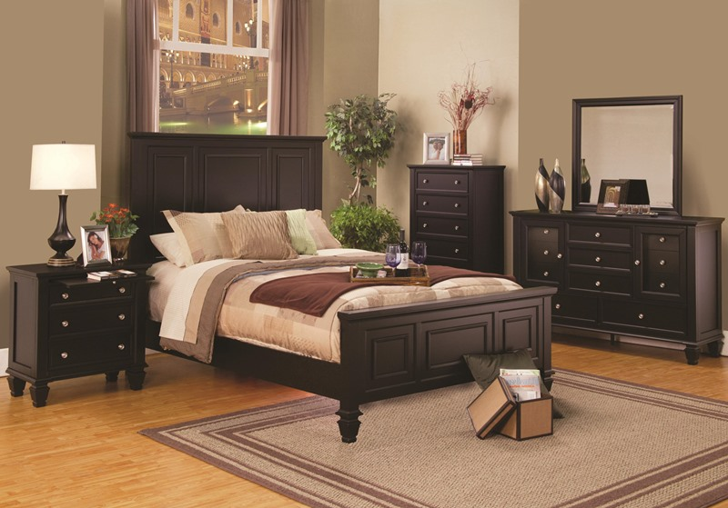 Sandy Beach Bedroom Set in Cappuccino